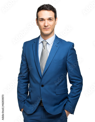 Fotografie, Obraz Young businessman isolated on white