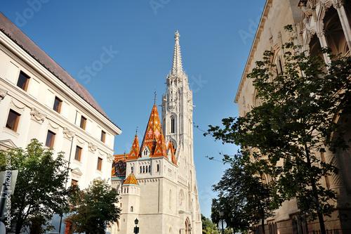 In de dag Monument Budapest, Hungary, Europe - St.Matthias church