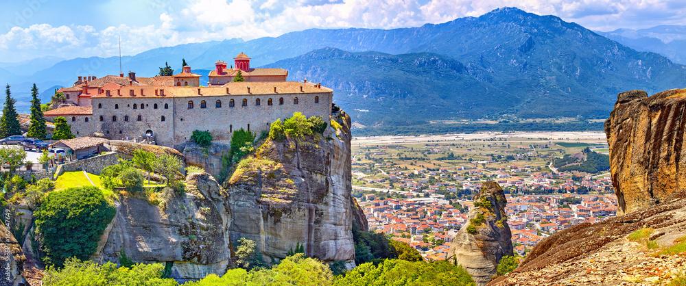 Fototapeta Meteora monasteries, Greece Kalambaka. UNESCO World Heritage sit