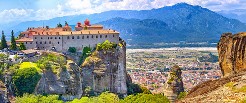 Meteora monasteries, Greece Kalambaka. UNESCO World Heritage sit