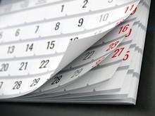 Concept Of Calendar, Reminder, Organizing - 3d Illustration Of Calendar