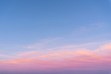 Panorama Of The Sky At Sunset.