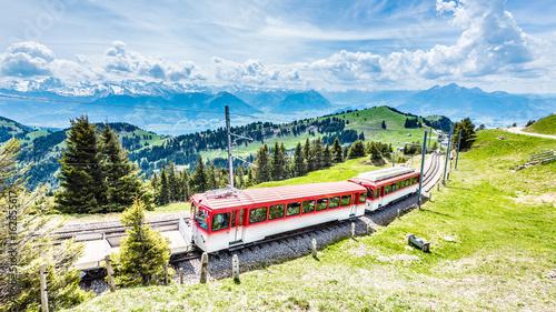 Obrazy na płótnie Canvas Rigi Bahn, Vierwaldstättersee, Zentralschweiz, Schweiz, Europa
