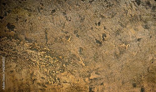 Obraz na płótnie Dark aged bronze plate texture