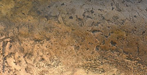 Dark aged bronze or cooper plate texture Canvas Print