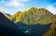 romania mountain ridge at sunrise