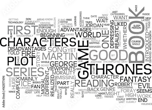 A SONG OF ICE AND FIRE A GAME OF THRONES TEXT WORD CLOUD CONCEPT Canvas Print
