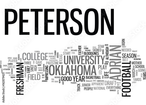 Photo  ADRIAN PETERSON DRAFT DAY PICKS TEXT WORD CLOUD CONCEPT