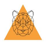 Geometric head tiger. Wild animal. Vector illustration. - 162879839