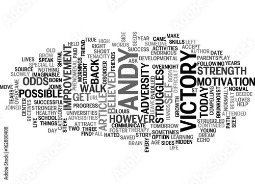 ADVERSITY TO VICTORY TEXT WORD CLOUD CONCEPT Canvas Print