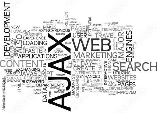 Платно AJAX SEO ARE THEY COMPATIBLE TEXT WORD CLOUD CONCEPT