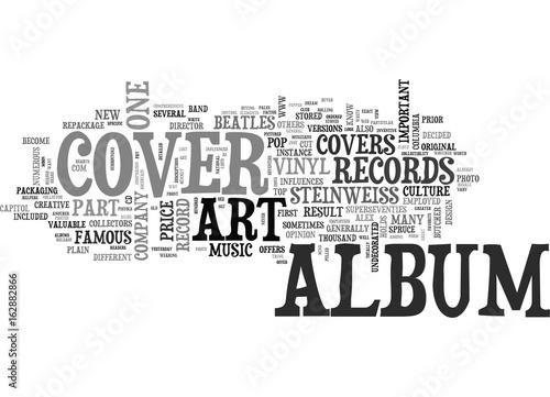 Poster  ALBUM COVER ART PART ONE TEXT WORD CLOUD CONCEPT