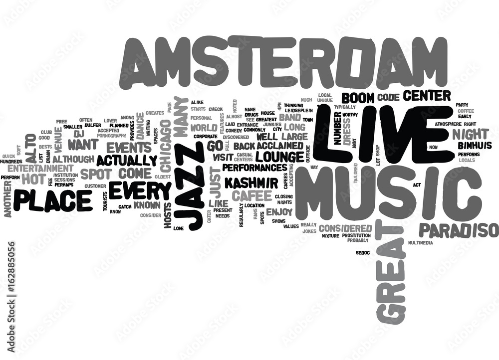 Photo & Art Print AMSTERDAM HOTELS TEXT WORD CLOUD CONCEPT