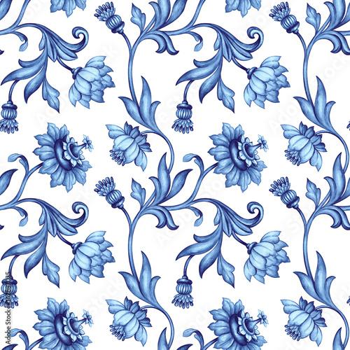 bezszwowe-kwiatowy-wzor-sredniowieczne
