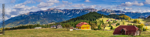 Bucegi mountains seen from Fundata vilage, Brasov, Romania Wallpaper Mural