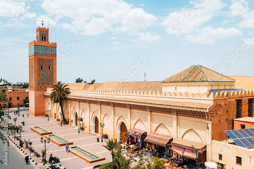 roof views of marrakech old medina city, morocco Canvas Print