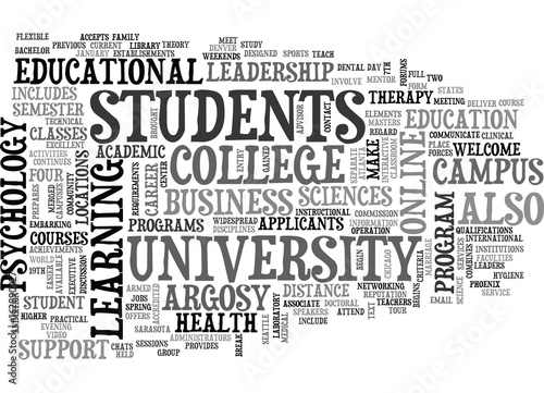 ARGOSY UNIVERSITY TEXT WORD CLOUD CONCEPT Poster