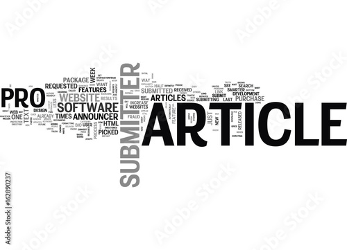 Fotografie, Tablou  ARTICLE SUBMITTER PRO REVIEW TEXT WORD CLOUD CONCEPT