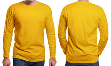 Orange Long Sleeved Shirt Desi...