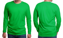 Green Long Sleeved Shirt Desig...
