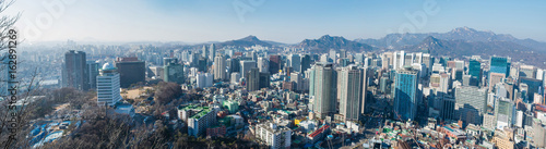Fotobehang Seoel Panoramic view of Seoul, capital city of South Korea