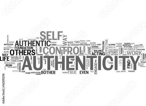 AUTHENTIC SUCCESS TEXT WORD CLOUD CONCEPT