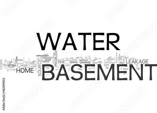 Valokuva  BASEMENT WATER TEXT WORD CLOUD CONCEPT