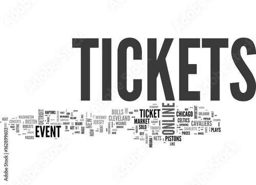Photo  BENEFITS OF ONLINE EVENT TICKETS TEXT WORD CLOUD CONCEPT