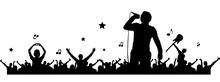 Silhouette Konzert Fans