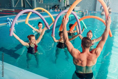 Aqua aerobics, healthy water sport Canvas Print