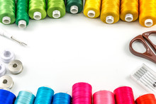 Threads Spools Colorful And Ac...