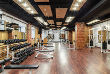 Interior View Of A Gym With Eq...