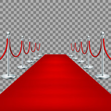 Realistic Red Carpet Between R...