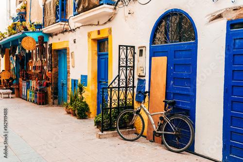 Foto op Canvas Marokko colorful streets of essaouira maritime town, morocco