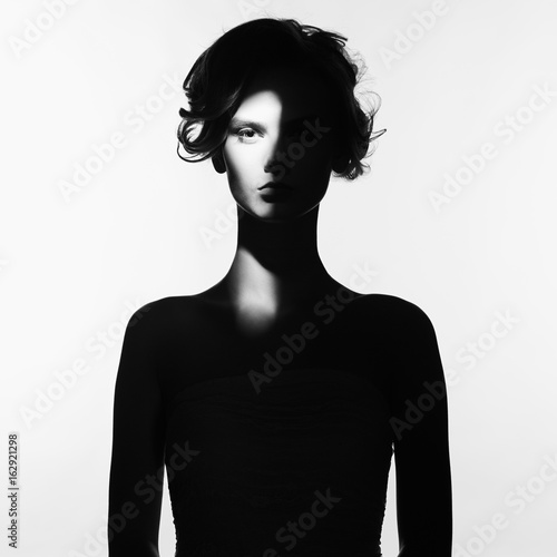 Poster womenART Surrealistic portrait of young lady