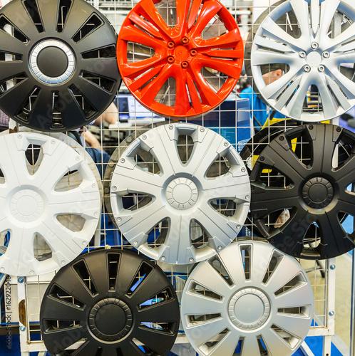 Fényképezés Decorative wheel covers closeup, auto tuning