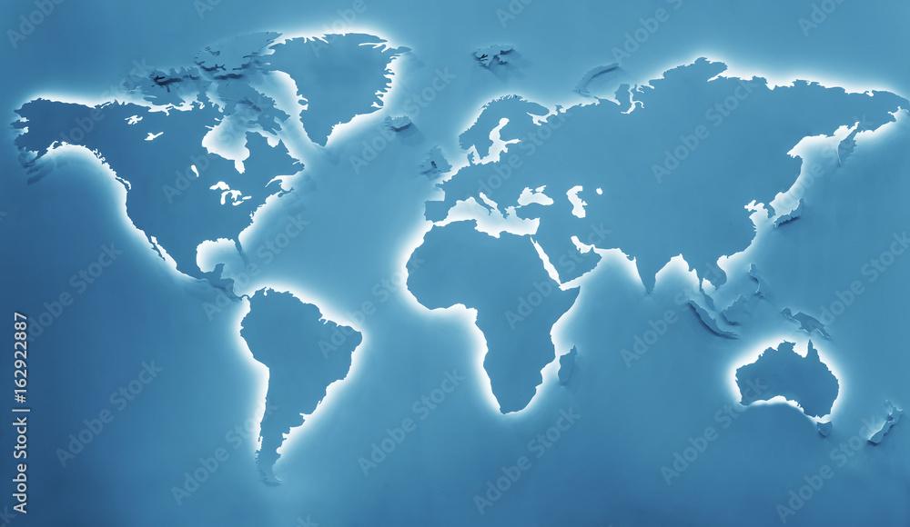 Fototapety, obrazy: Illuminated earth map