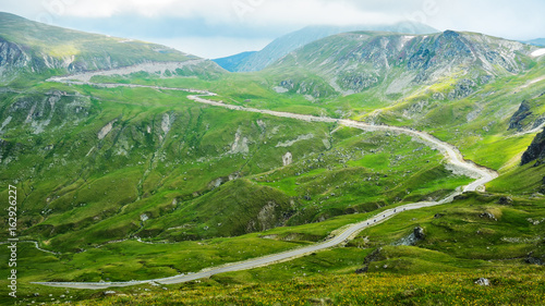 Fototapeta The Carpathian Mountains seen from Transalpina obraz na płótnie