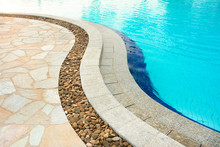 Curved Swimming Pool Edge, Mad...