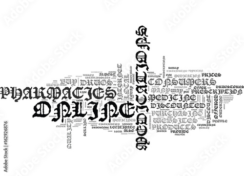 Fotografie, Obraz  WHY BUY DISCOUNTED MEDICINE AT ONLINE PHARMACIES TEXT WORD CLOUD CONCEPT
