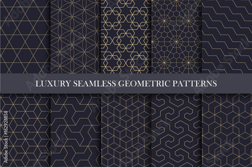 Türaufkleber Künstlich Luxury seamless ornamental patterns - geometric rich design.