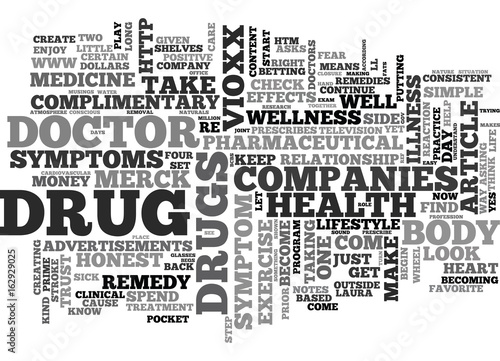 WHY DRUG COMPANIES ARE NAUGHTY AND REMEDIES TO CURE THE SYMPTOMS TEXT WORD CLOUD Wallpaper Mural