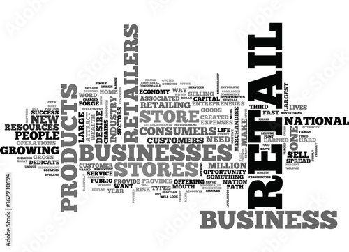 Fotografie, Obraz  WHY OPEN UP A RETAIL STORE TEXT WORD CLOUD CONCEPT