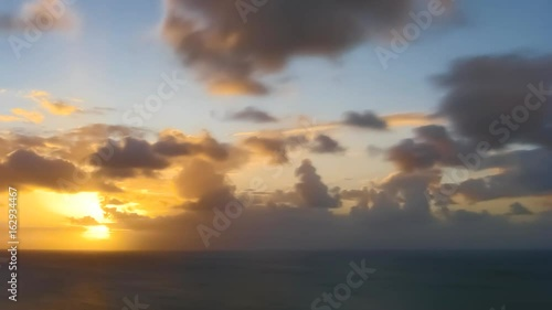 Photo  Time Lapse Sunset Over Ocean seen from Anguilla, Caribbean Sea
