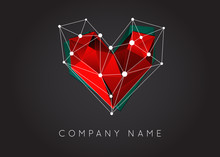Geometric Shapes Unusual And Abstract  Vector Logo. Polygonal Colorful Logotypes.