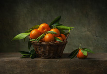 Still Life With Tangerines In ...
