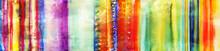 Streifen Bunt Handgemalt Aquarell Banner
