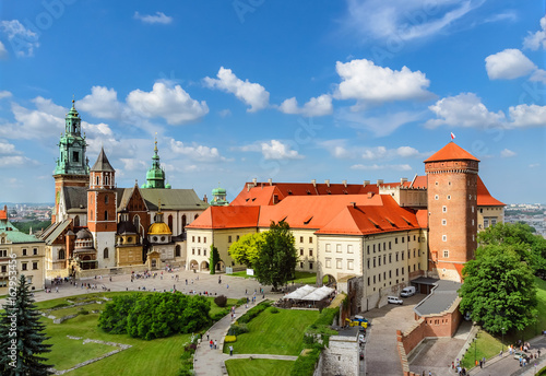 plakat Krakow - Wawel castle at day. Poland Europe.