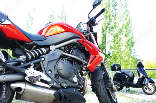Motorrad, Maschine