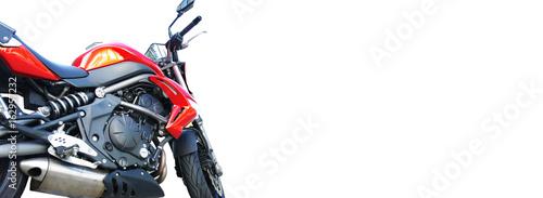 Motorrad vor weißem Hintergrund